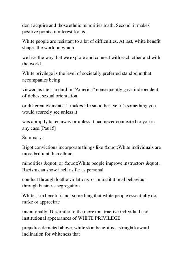 white privilege research paper