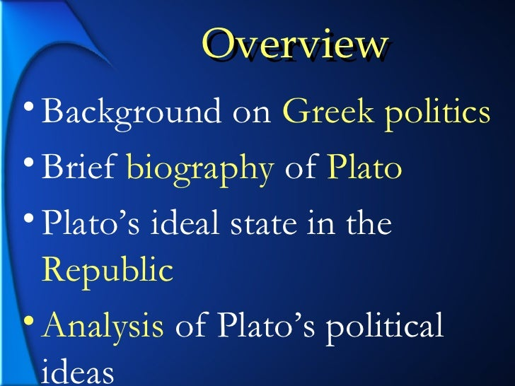 "an analysis of political concepts and philosophies in democracy by plato Not all instrumental arguments favor democracy plato there are three main concepts of ""the authority of democracy,"" journal of political philosophy."