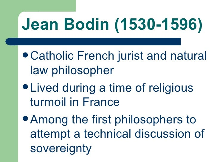 On Sovereignty Bodin