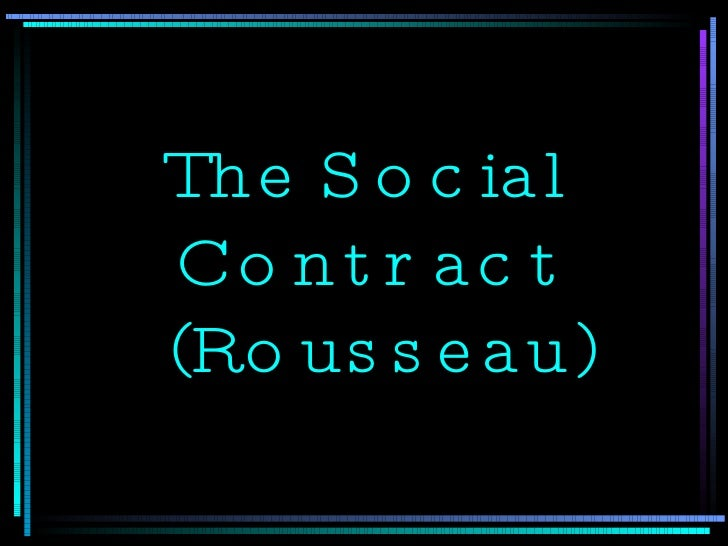 The Social Contract  (Rousseau)