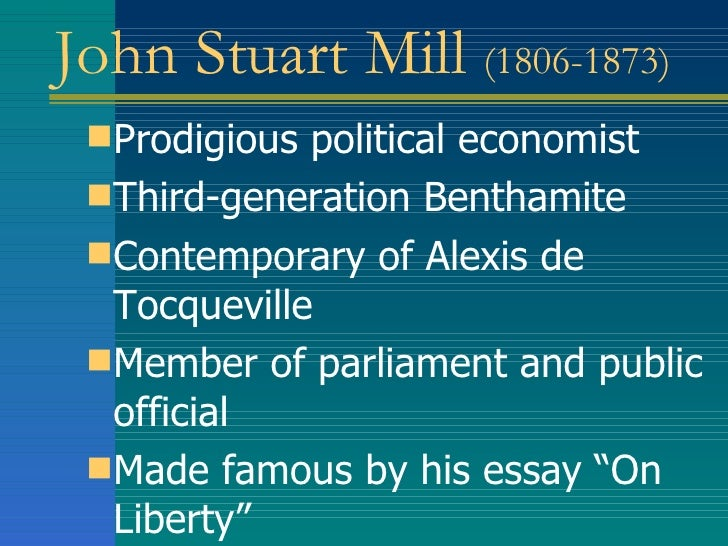 john stuart mill essay on liberty summary