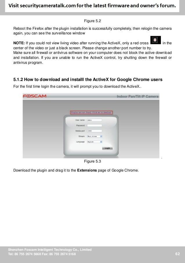 Foscam Chrome Plugin