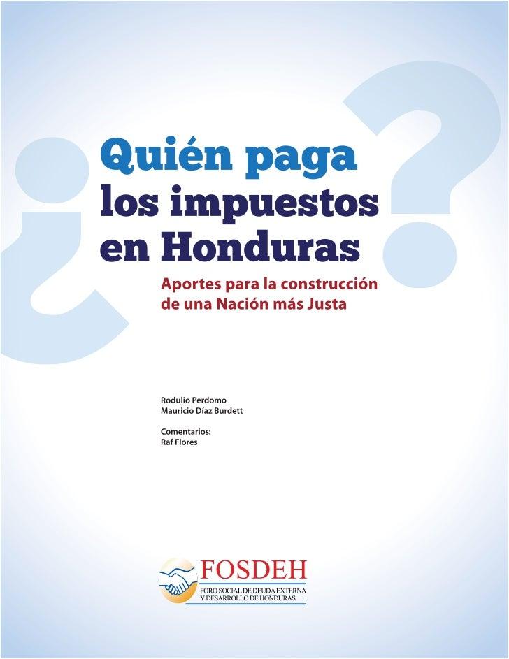 ¿Quién paga los Impuestos en Honduras?   1