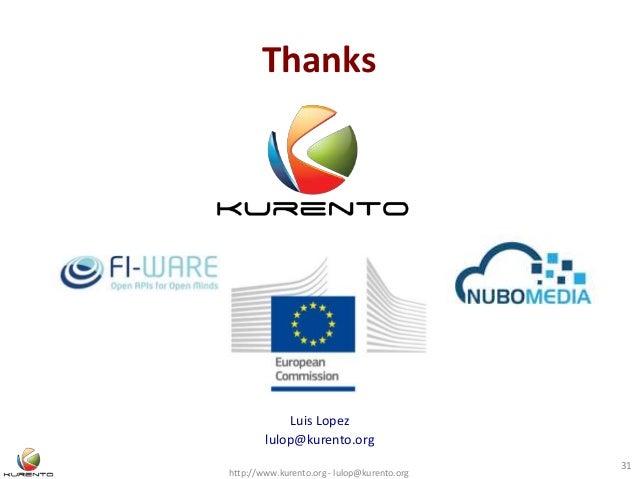 Thanks http://www.kurento.org - lulop@kurento.org 31 Luis Lopez lulop@kurento.org