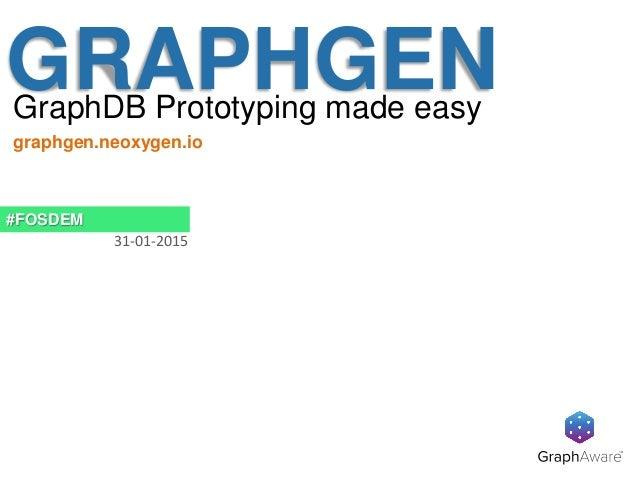 GRAPHGENGraphDB Prototyping made easy #FOSDEM 31-01-2015 graphgen.neoxygen.io