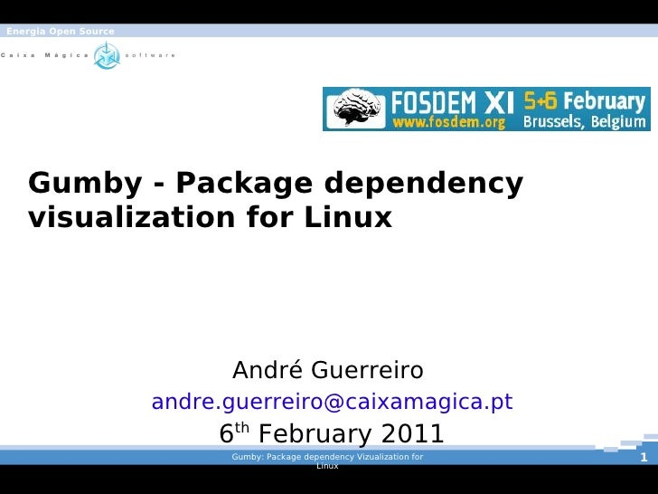 Energia Open Source       Gumby - Package dependency       visualization for Linux                                André Gu...