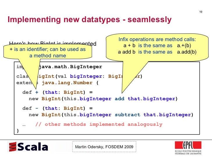 Scala Talk at FOSDEM 2009 Slide 19
