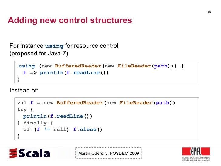 Scala Talk at FOSDEM 2009 Slide 20