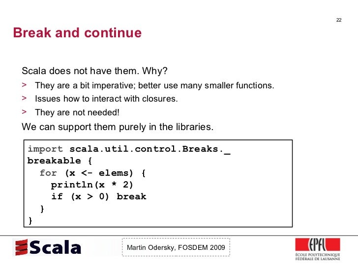 Scala Talk at FOSDEM 2009 Slide 22