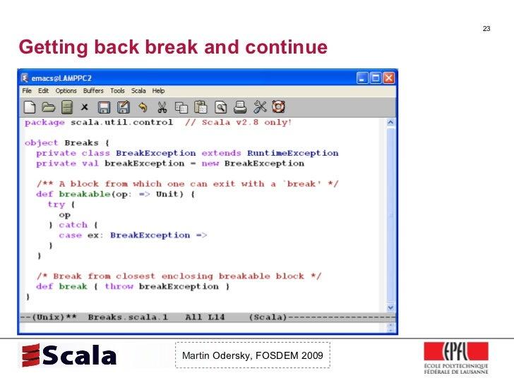 Scala Talk at FOSDEM 2009 Slide 23