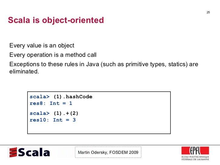Scala Talk at FOSDEM 2009 Slide 25