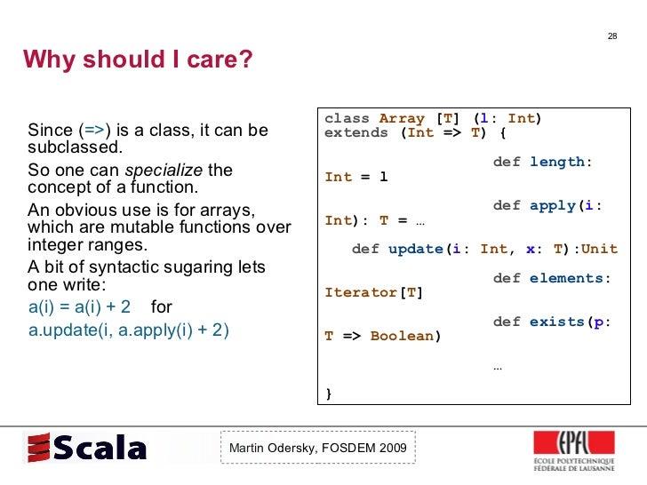 Scala Talk at FOSDEM 2009 Slide 28