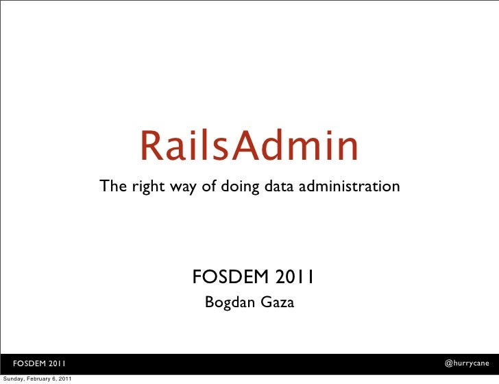 RailsAdmin                           The right way of doing data administration                                       FOSD...