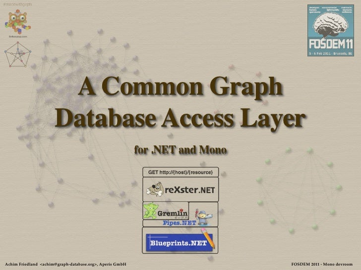 A Common Graph                      Database Access Layer                                                          for .NE...