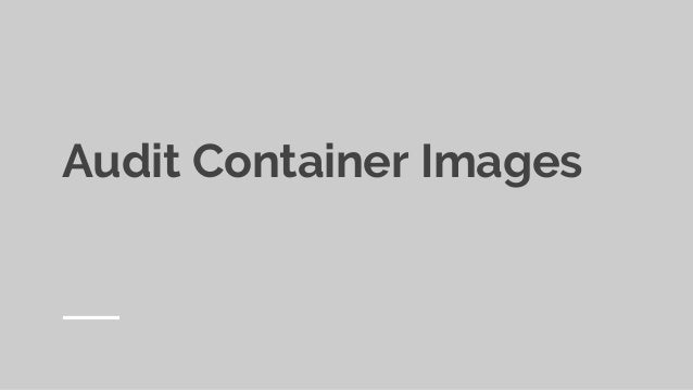 Everything you need to know about containers security