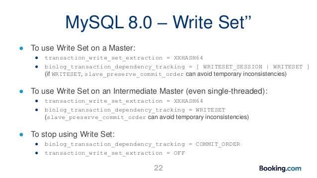 MySQL Parallel Replication by Booking com