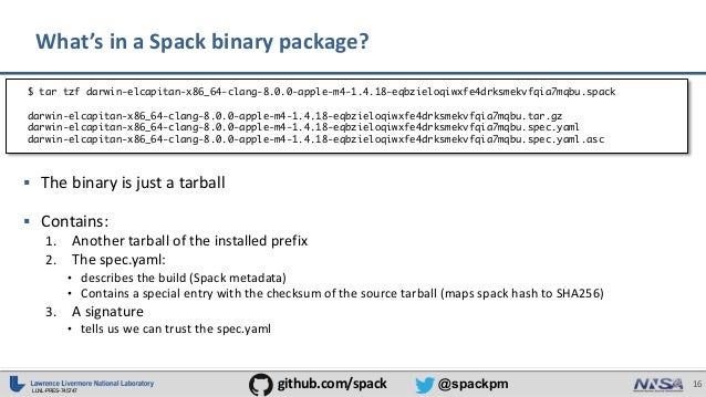 Binary Packaging for HPC with Spack