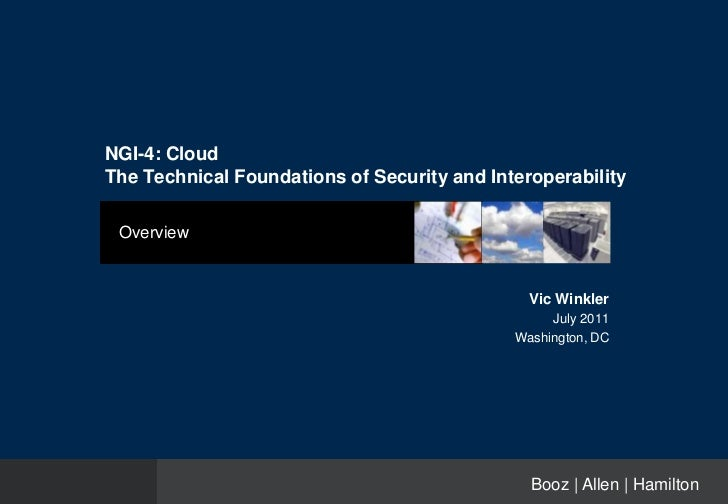 NGI-4: CloudThe Technical Foundations of Security and Interoperability Overview                                           ...