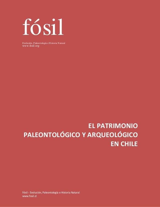 fósilEvolución, Paleontología e H istoria N aturalwww.fosil.org                  EL PATRIMONIO PALEONTOLÓGICO Y ARQUEOLÓGI...