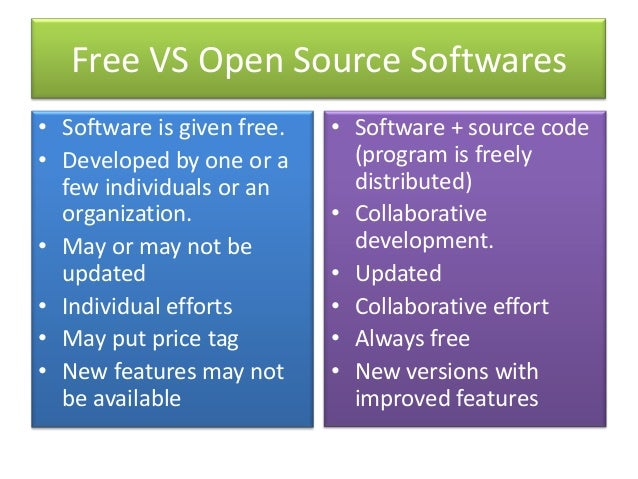 Free Open Source Softwares Foss