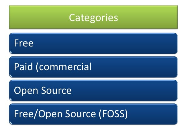 free and open source software foss Open source software (oss) is distributed under a licensing  for the general  public to use and modify from its original design free of charge.