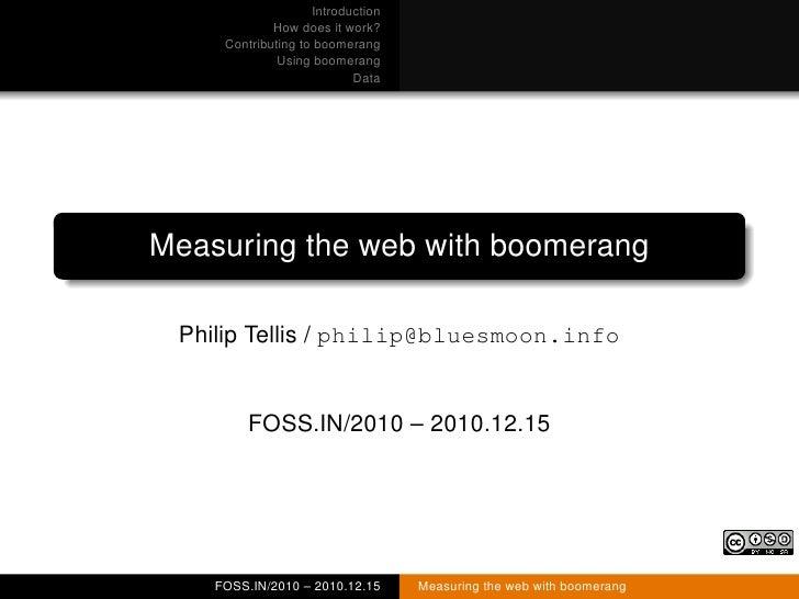Boomerang at FOSS.IN/2010