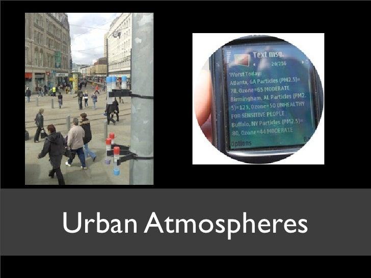 Urban Atmospheres
