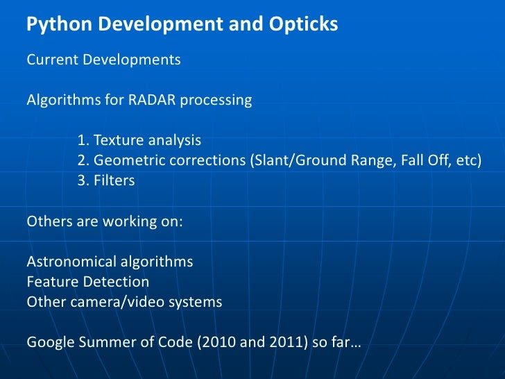 Enhancing the Use of Python in GIS and Remote Sensing