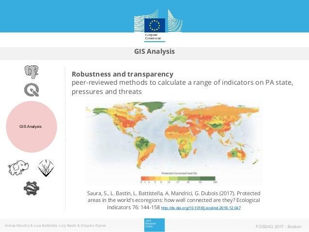 GIS Analysis GIS Analysis Andrea Mandrici & Luca Battistella, Lucy Bastin & Gregoire Dubois FOSS4G 2017 - Boston Robustnes...