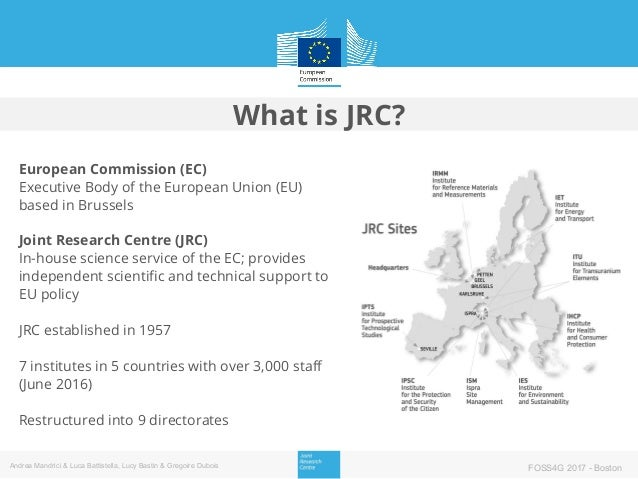 European Commission (EC) Executive Body of the European Union (EU) based in Brussels Joint Research Centre (JRC) In-house ...