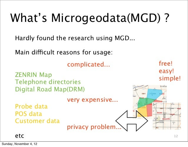 What's Microgeodata(MGD) ?        Hardly found the research using MGD...        Main difficult reasons for usage:         ...