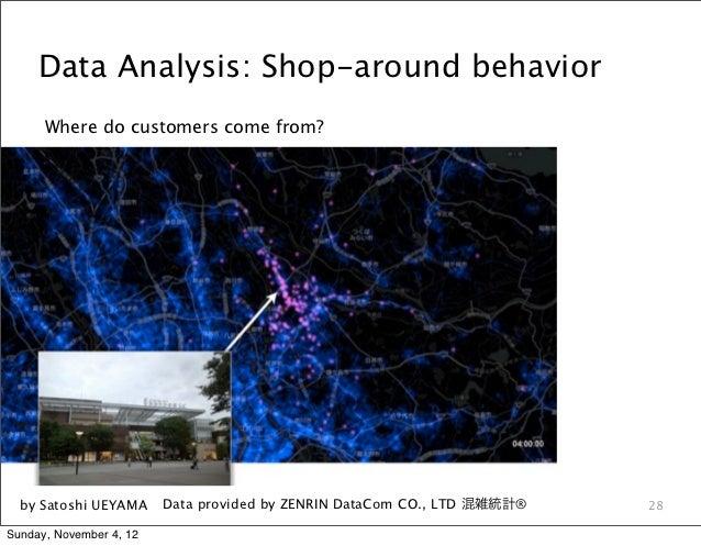 Data Analysis: Shop-around behavior      Where do customers come from?  by Satoshi UEYAMA      Data provided by ZENRIN Dat...
