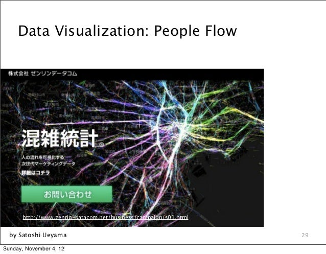 Data Visualization: People Flow       http://www.zenrin-datacom.net/business/campaign/s01.html  by Satoshi Ueyama         ...