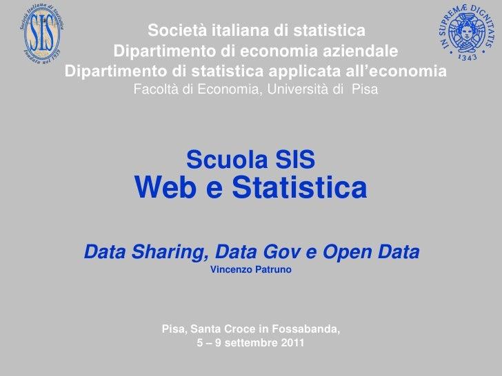 Società italiana di statistica      Dipartimento di economia aziendaleDipartimento di statistica applicata all'economia   ...