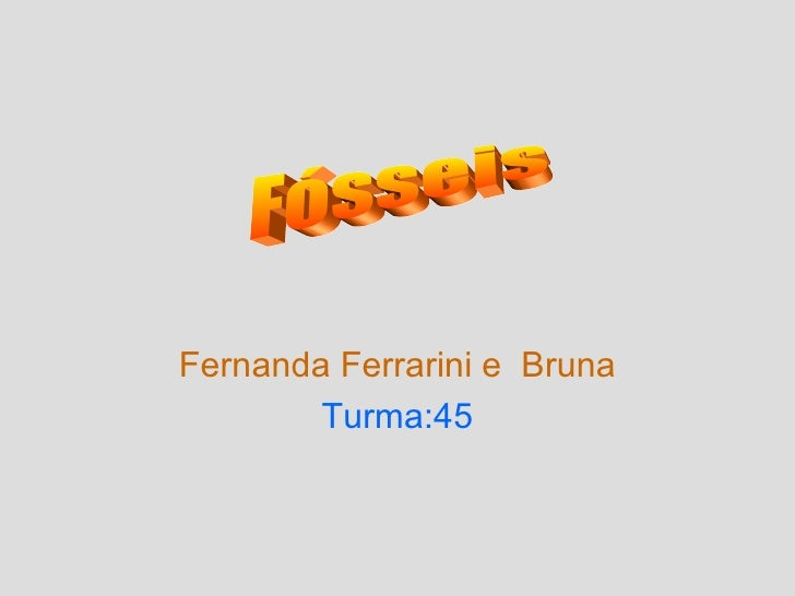 Fernanda Ferrarini e Bruna        Turma:45