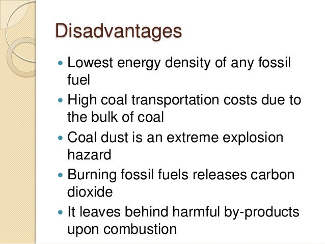 cons of using fossil fuels