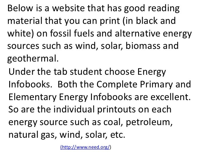 Fossil Fuels Teach