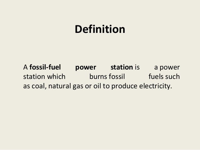 Fossil Fuel Thermal Power Plants