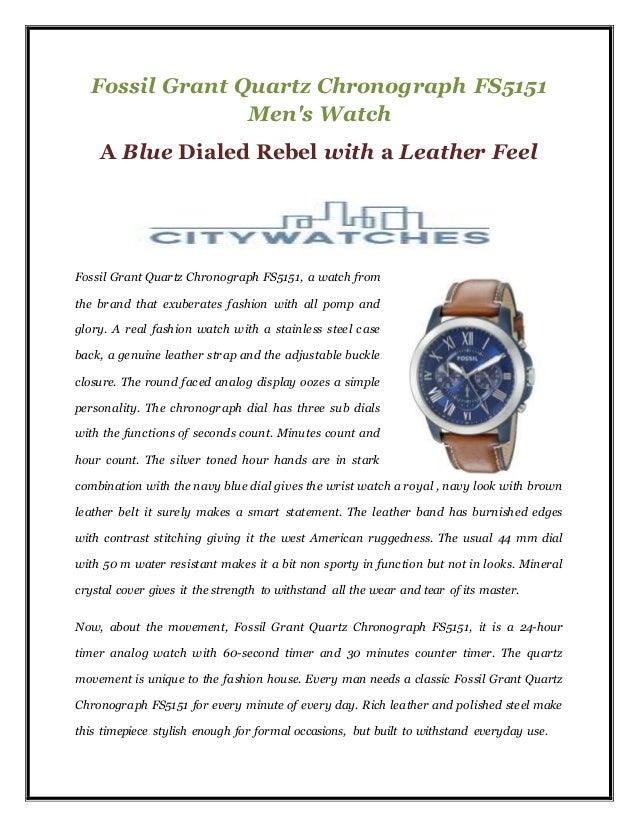 0902414aeb8f Fossil grant quartz chronograph fs5151 men s watch