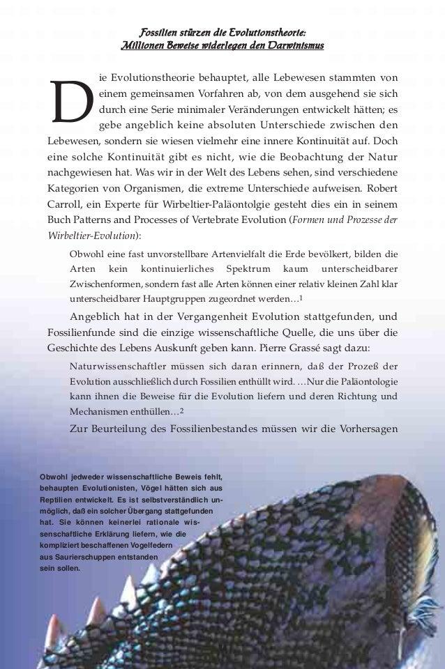 Fossilien stürzen die evolutionstheorie. german deutsche