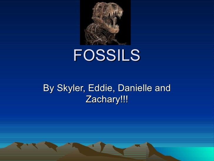 FOSSILSBy Skyler, Eddie, Danielle and          Zachary!!!