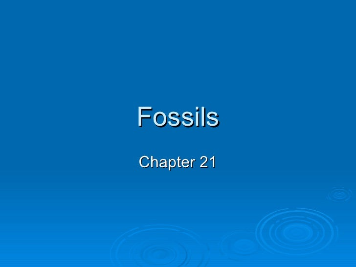 Fossils Chapter 21