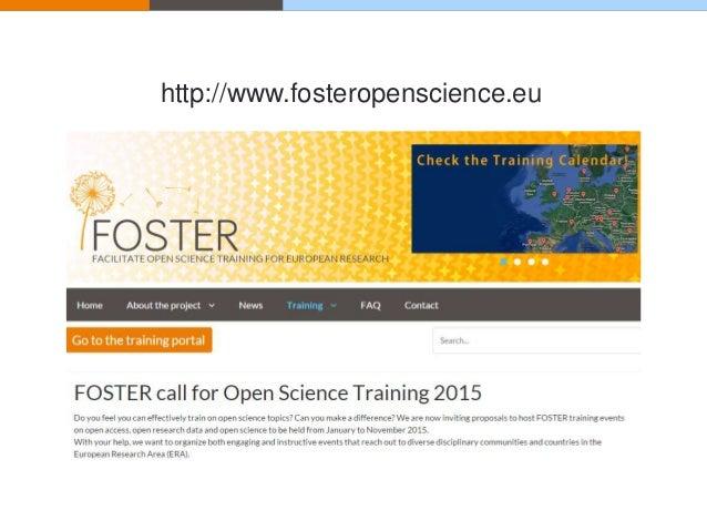 http://www.fosteropenscience.eu