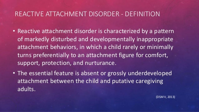 reactive attachment disorders in adults