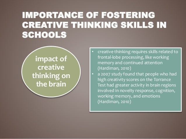 Fostering creative thinking skills in college students