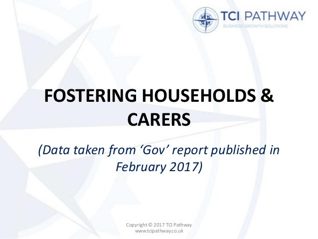 FOSTERING HOUSEHOLDS & CARERS (Data taken from 'Gov' report published in February 2017) Copyright © 2017 TCI Pathway www.t...