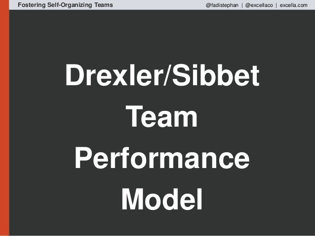 tuckman drexler sibbet High-performance teams (hpts) is a concept within organization development  referring to  using tuckman's stages of group development as a basis, a hpt  moves through the stages of forming, storming, norming and performing, as with.
