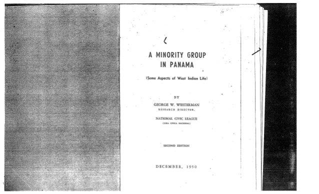 A Minority Group in Panama George Westerman December 1950