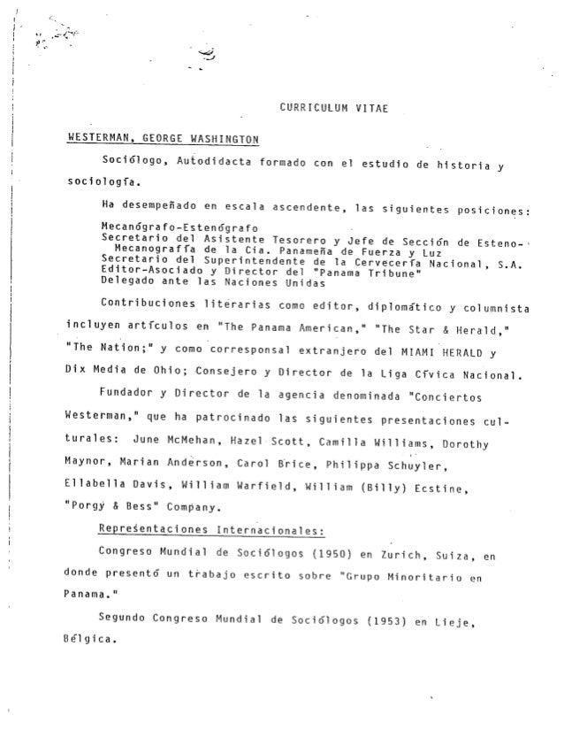 George Westerman CV Date Unknown