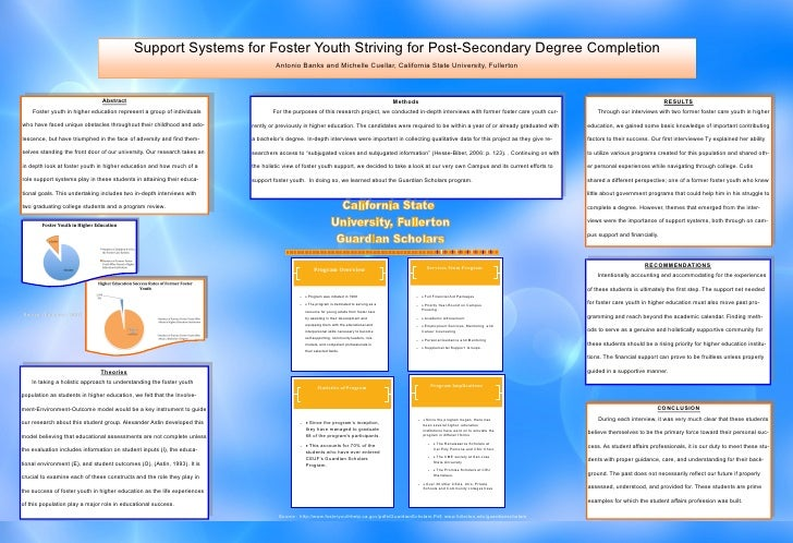 Support Systems for Foster Youth Striving for Post-Secondary Degree Completion                                            ...